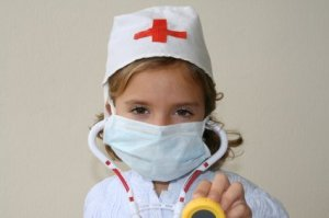 Girl Dressed as a Nurse