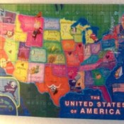 US puzzle used as a map.