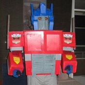 Man Dressed in His Optimus Prime Costume