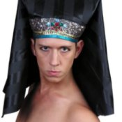 Man in Pharaoh Costume