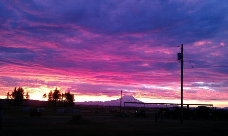 Sunrise at Ft Lewis, WA