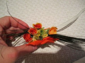 Sideview of Fall Flower Accessory