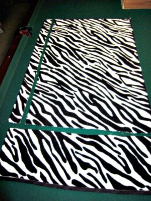 Cut up zebra stripe towel