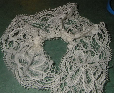 Section of lace for project.