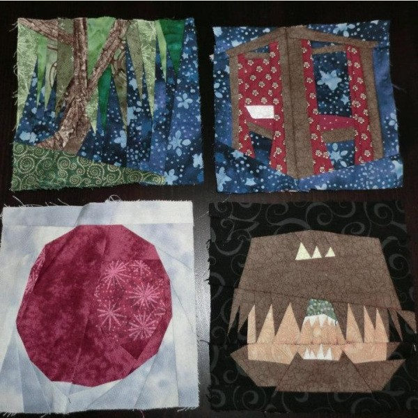 Four more blocks including whomping willow, Harry's bed and more.