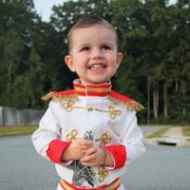 Little Boy in Prince Charming Costume