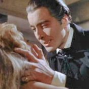 Photo of Christopher Lee as Dracula.