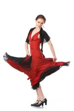 Woman Dressed as a Flamenco Dancer