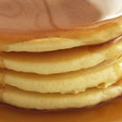 Stack of Pancakes in Syrup