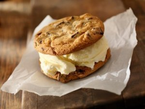 Photo of homemade ice cream sandwiches.