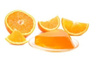 Photo of homemade orange jello.