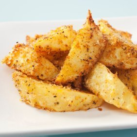 A plate of Jo Jo potato wedges.