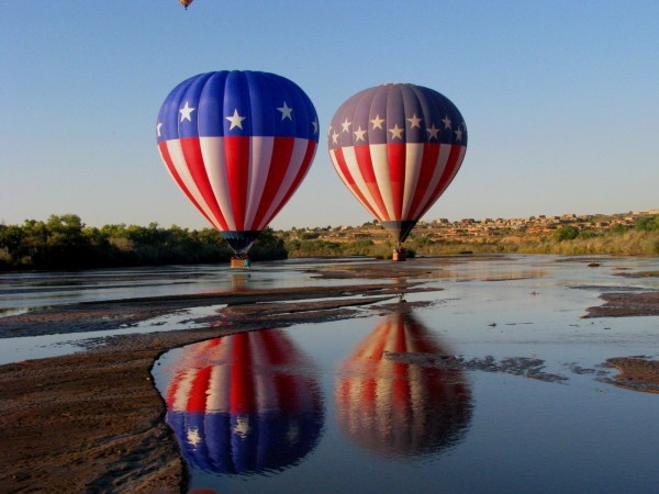 Hot Air Balloons Reflected in Water