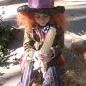 Little Girl Dressed as the Mad Hatter