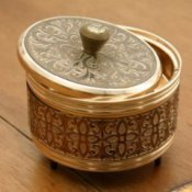 Antique brass box.