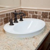 A new bathroom sink.