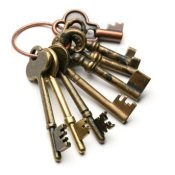 Ring of old keys.