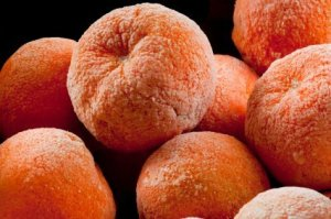 Pile of Frozen Oranges