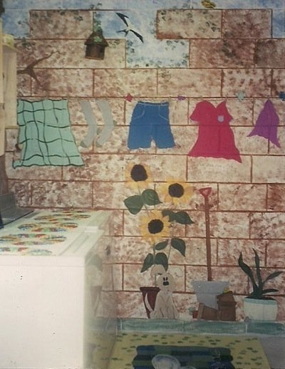 Adding Painted Murals to Your Home's Decor, Laundry Room Mural