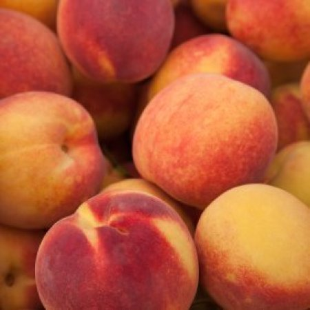 Pile of peaches.