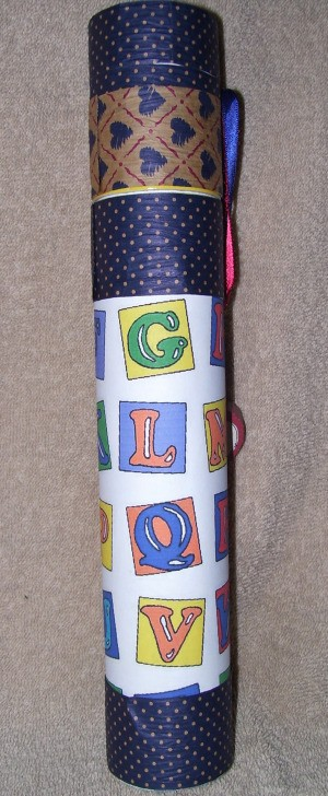 Tube Covered in decorative paper