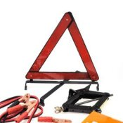 Preparing Your Car for an Emergency, Photo of a car emergency kit.