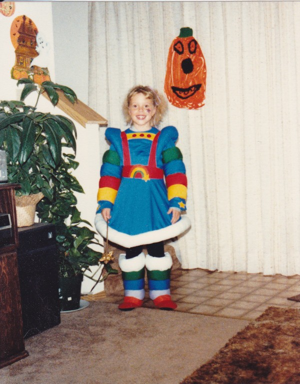 Girl Dressed as Rainbow Brite