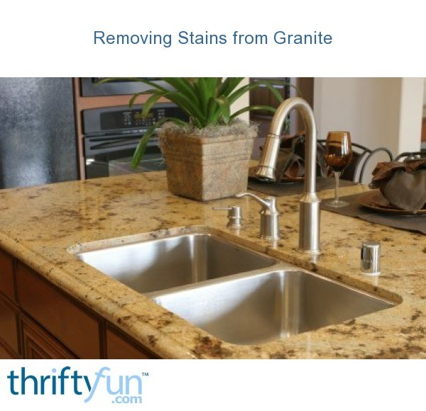 Removing Stains From Granite Thriftyfun