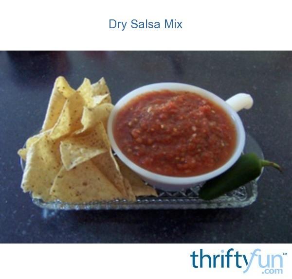 Dry salsa mix