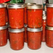 Jars of Freshly Canned Salsa