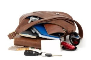 Organizing Your Purse, Items Spilling Out From a Purse