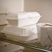 Take Out Containers in Refrigerator