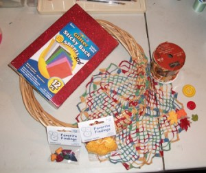 Fall Doily Wreath Supplies