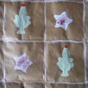 Handmade Christmas wrapping paper
