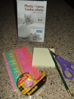 Supplies for Acrylic Frame Note Holder Craft