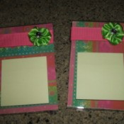 Acrylic Frame Note Holders