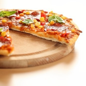 Thin crust pizza.
