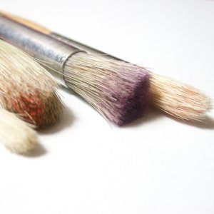 Dirty artist brushes.