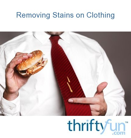Removing mustard stains from clothing thriftyfun for Remove stains from shirt