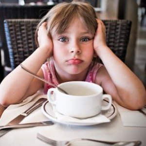 Bored Kid at a Restaurant