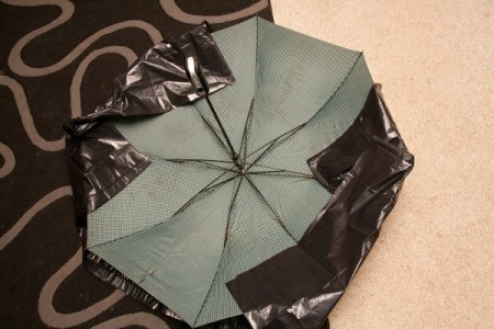 Folding Plastic on Umbrella for Doom Shroom Costume