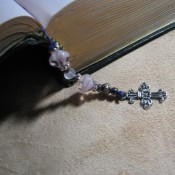 Beaded bookmark.