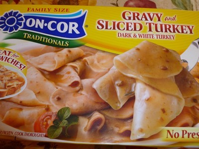 Photo of a box of On-Cor Turkey Slices.