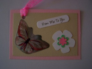 Butterfly Birthday Gift Tag