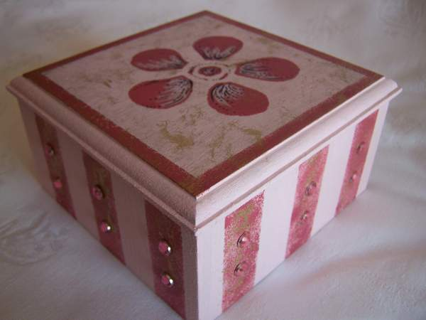 Candy-Striped Trinket Box