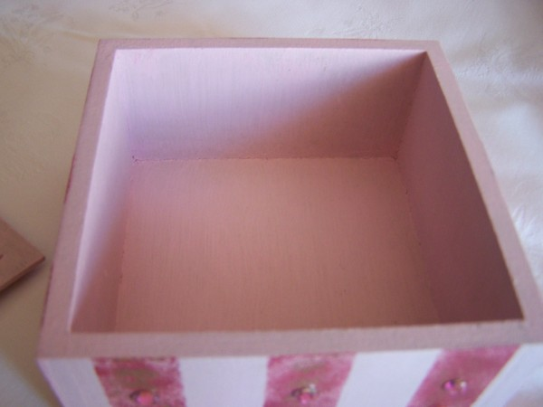 Inside of Candy-Striped Trinket Box