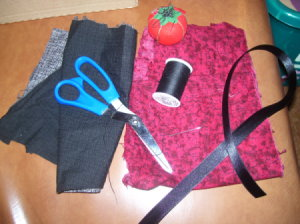 Supplies for Soap Bottle Apron
