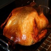 Cooking a Turkey in Your Oven, A turkey in the oven.
