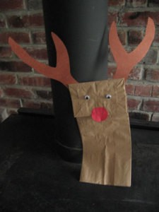 Finished Ruldolf Reindeer Puppet 1