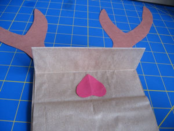 Inside mouth of Reindeer Puppet